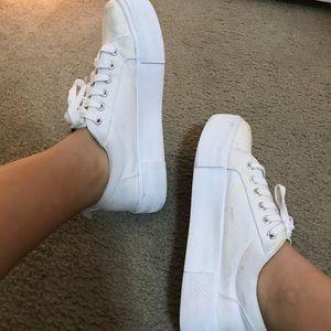 H&M white platform sneakers